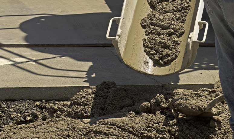 engineered fill of materials in construction site