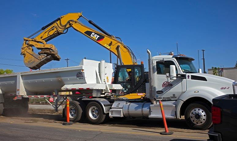 construction material transport in fresno california