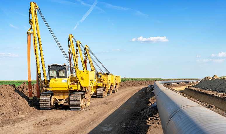 pipeline equipment for rent in california