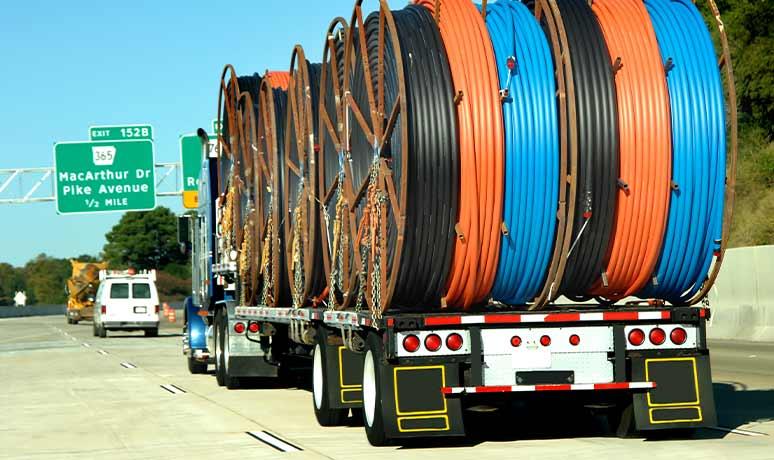 construction equipment hauling in california